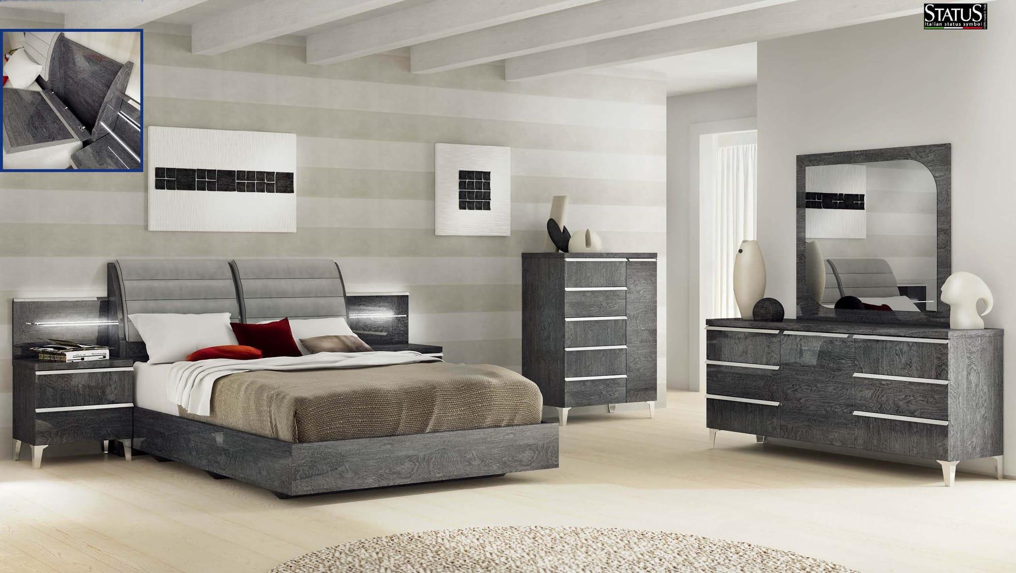 Elite Grey Birch Bedroom Set
