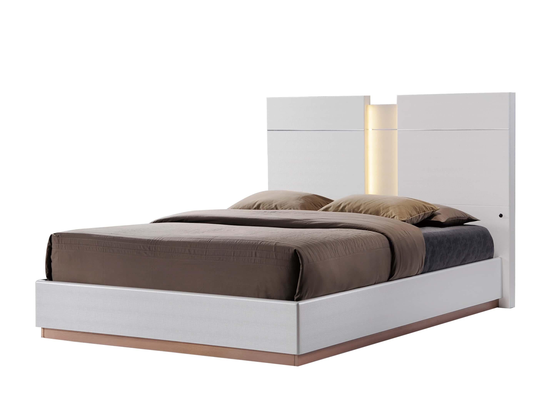 Global Bedroom Furniture Emma Leather Cream Bedroom Set By Global Furniture