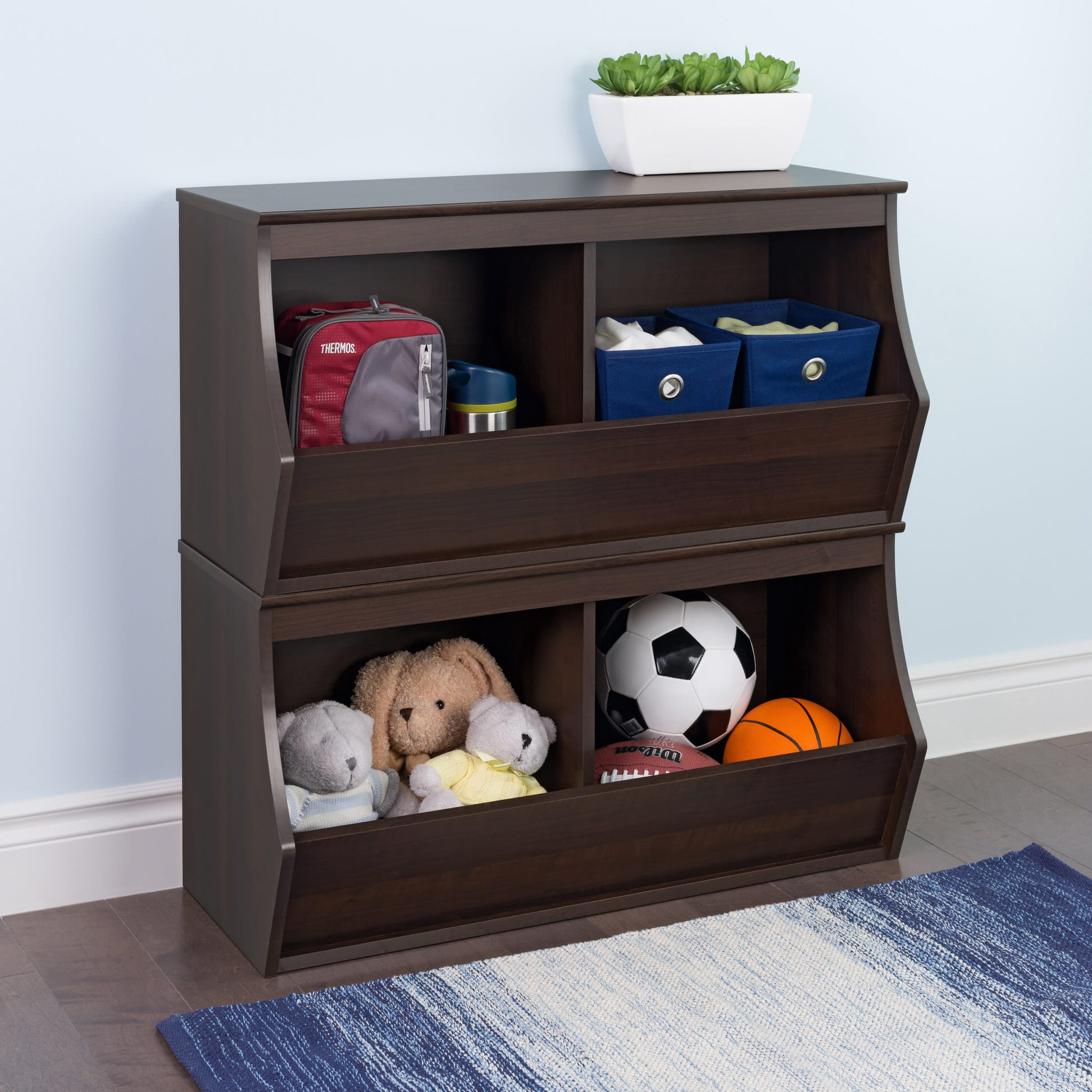 Stackable 3 Bin Storage Cubby By Prepac