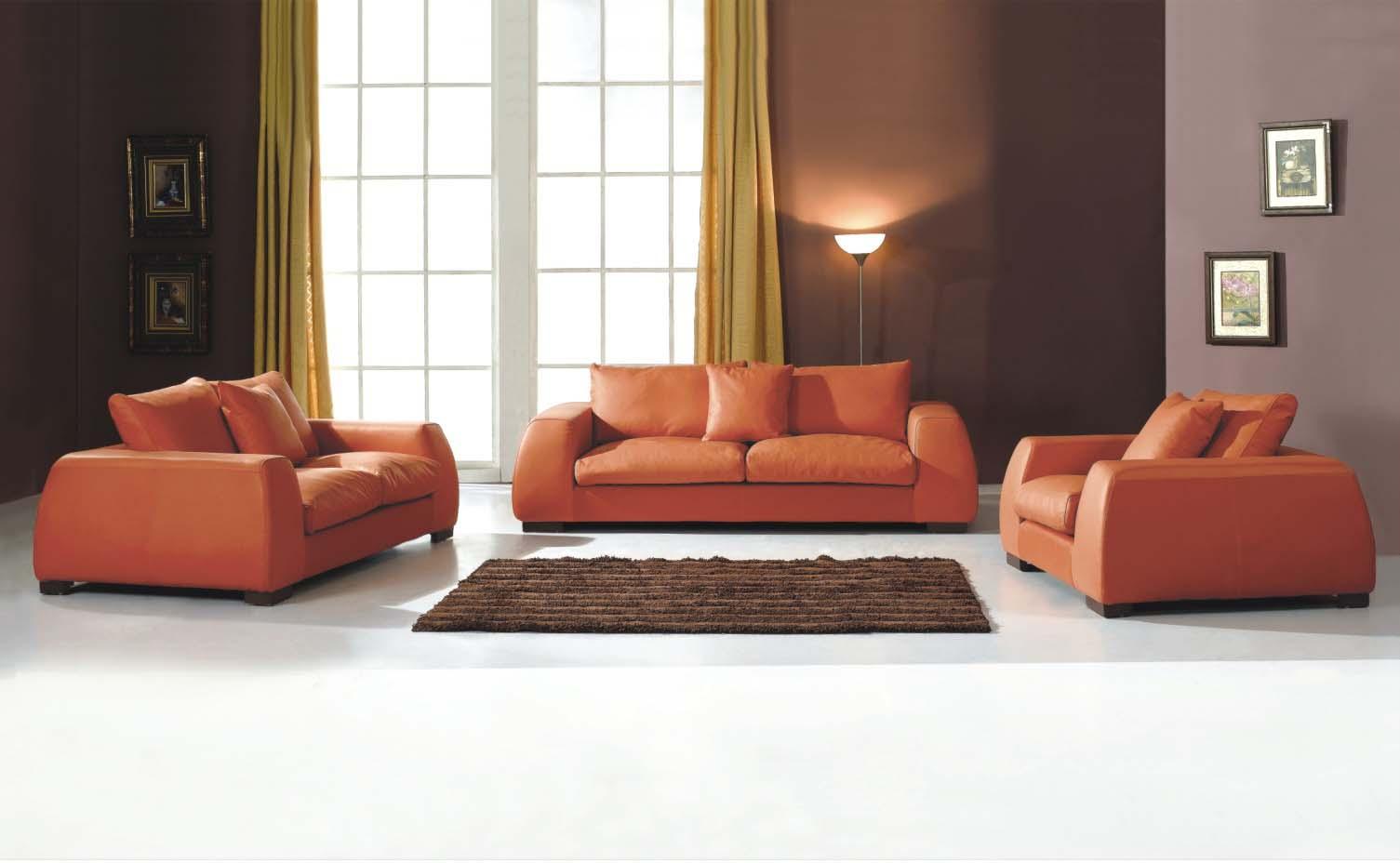 Burnt Orange Sofa Set Zef Jam
