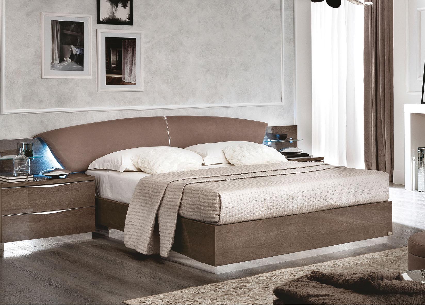 Platinum Drop Brown Bedroom Set By Esf