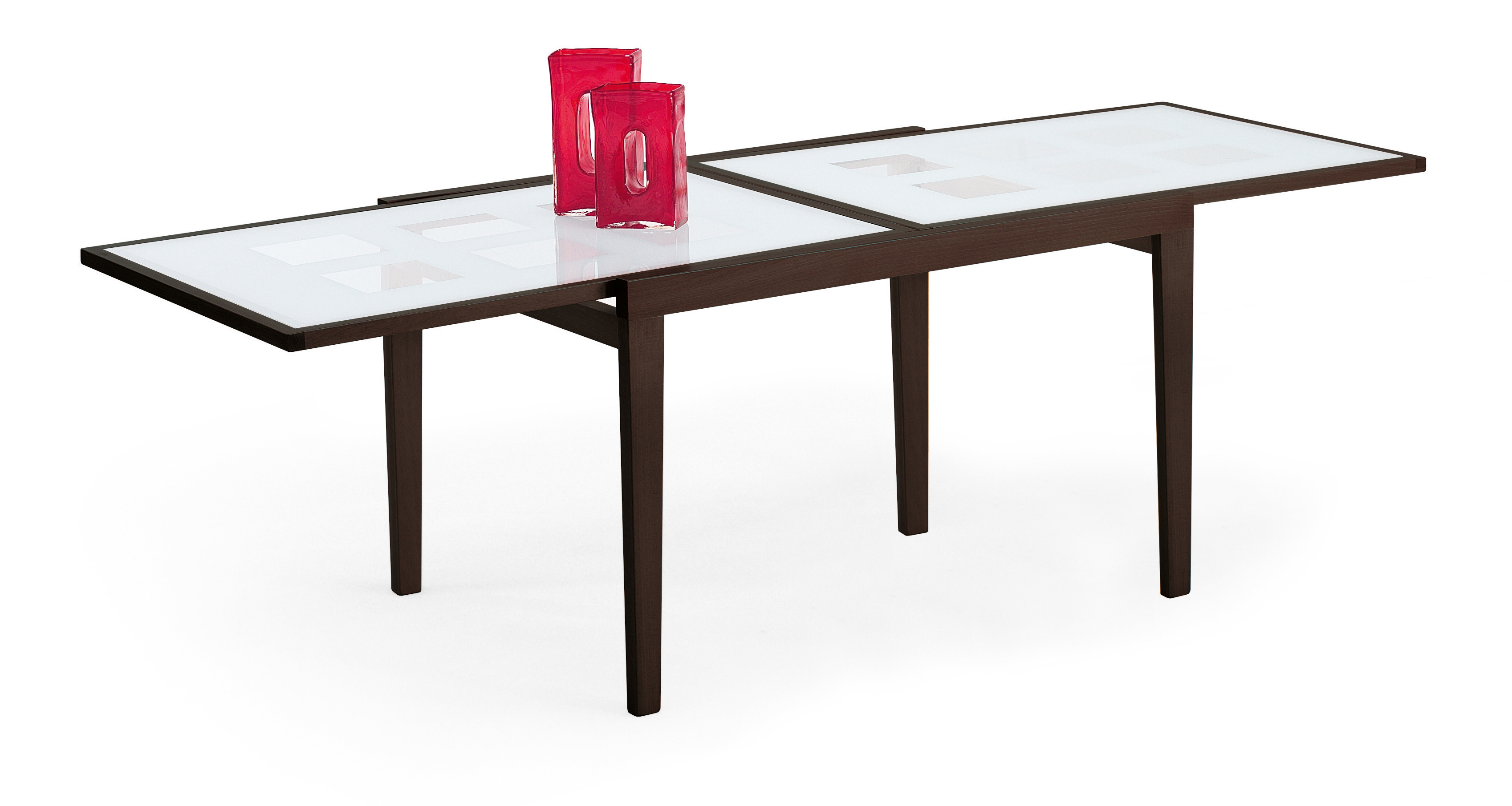 Poker 120 Extendable Glass Table Wenge W 47 Inch Extension By Esf