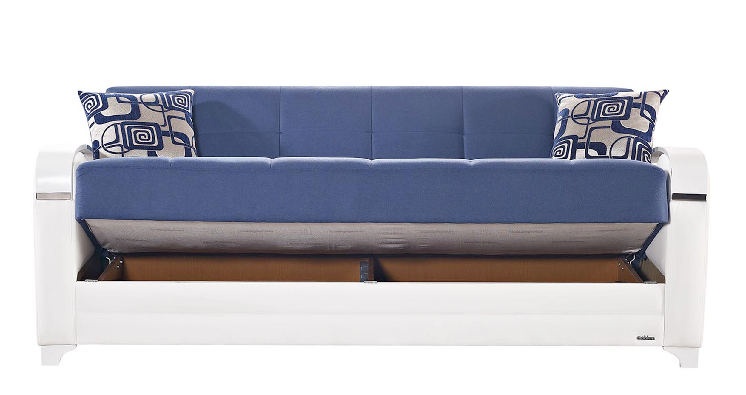 Etro Vintage Navy Blue Fabric Sofa Bed By Mobista