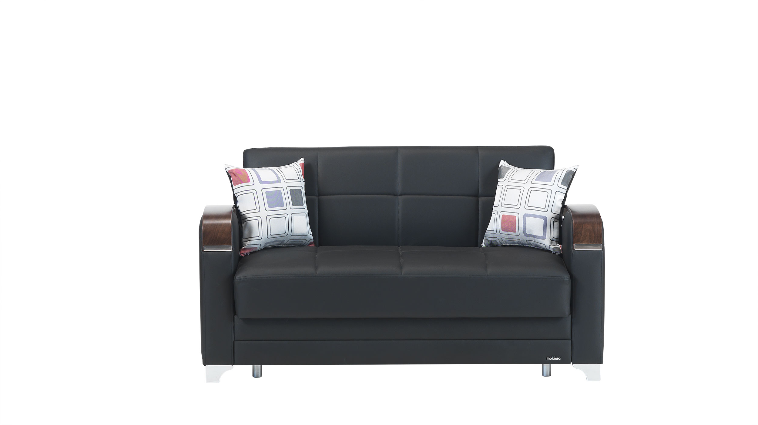 Cool Etro Prestige Black Leatherette Loveseat Bed By Mobista Gamerscity Chair Design For Home Gamerscityorg