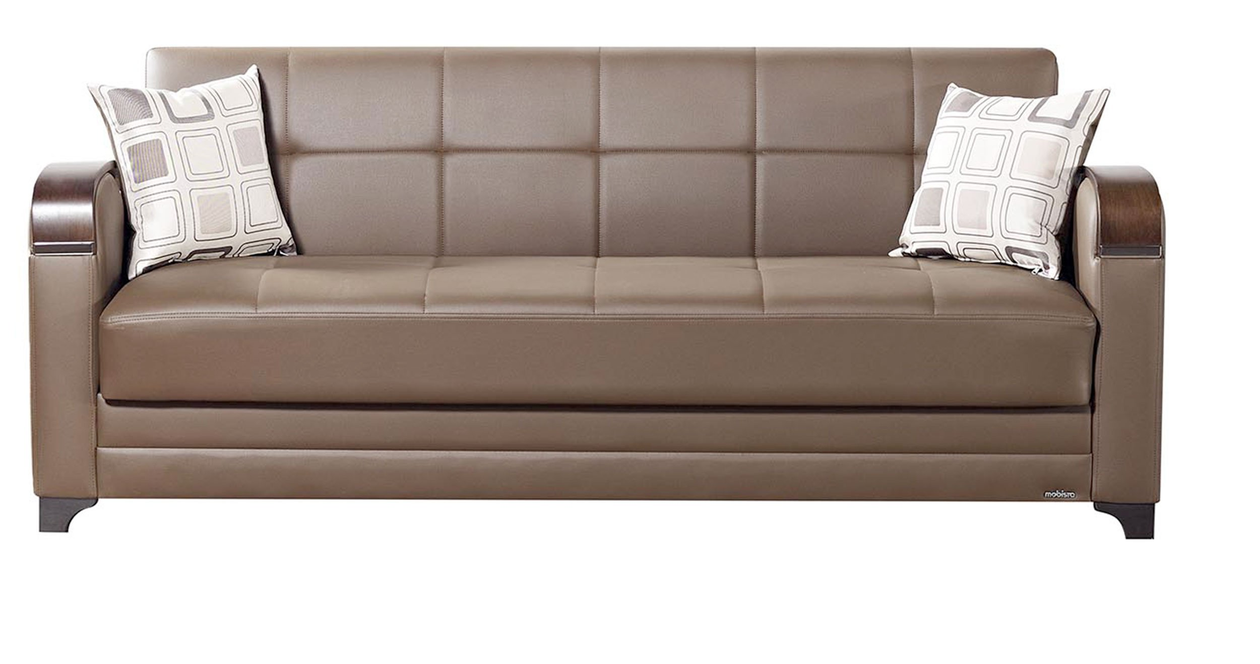 Etro prestige brown leatherette sofa bed by mobista for Sofa bed name