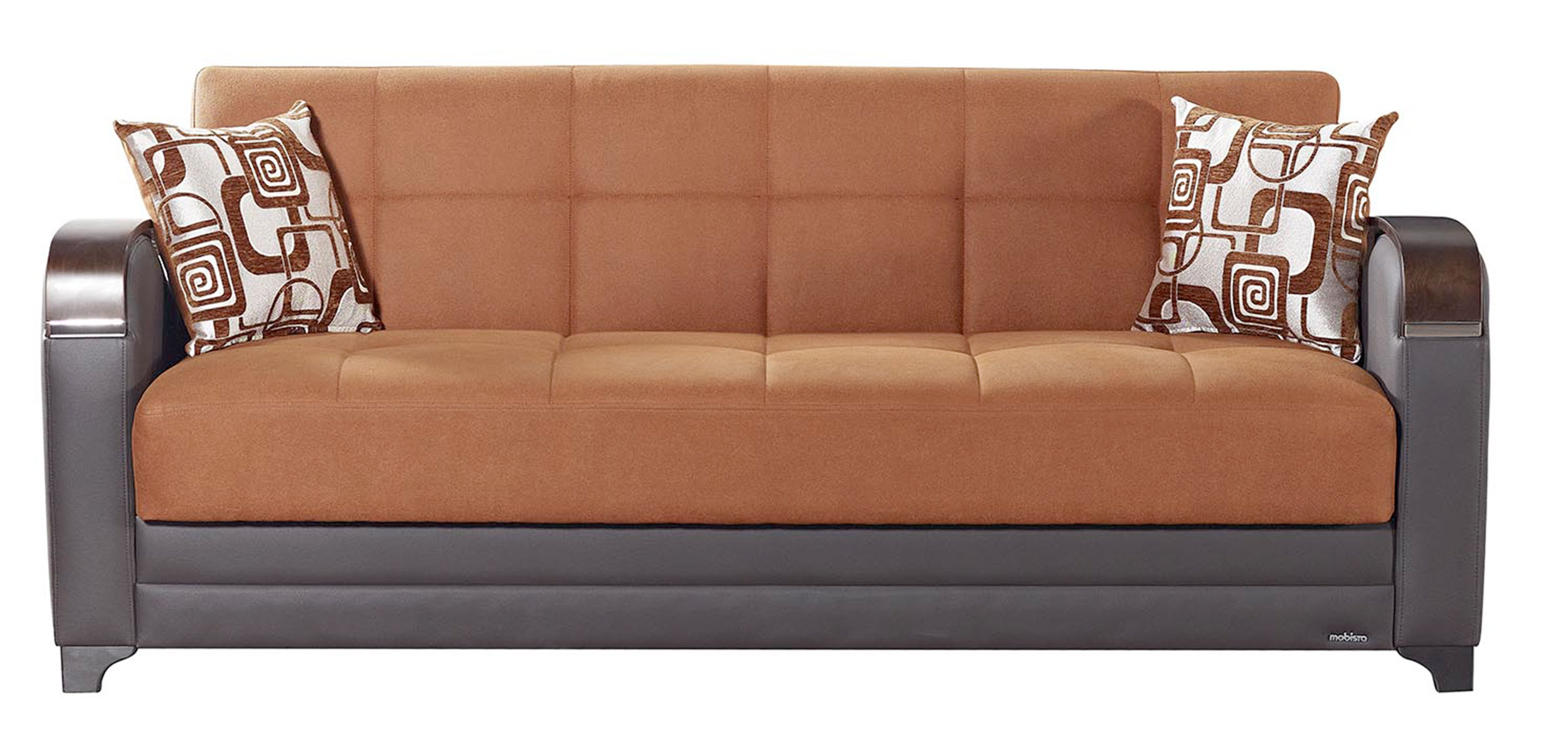 Etro Vintage Terra Cotta Fabric Sofa Bed by Mobista