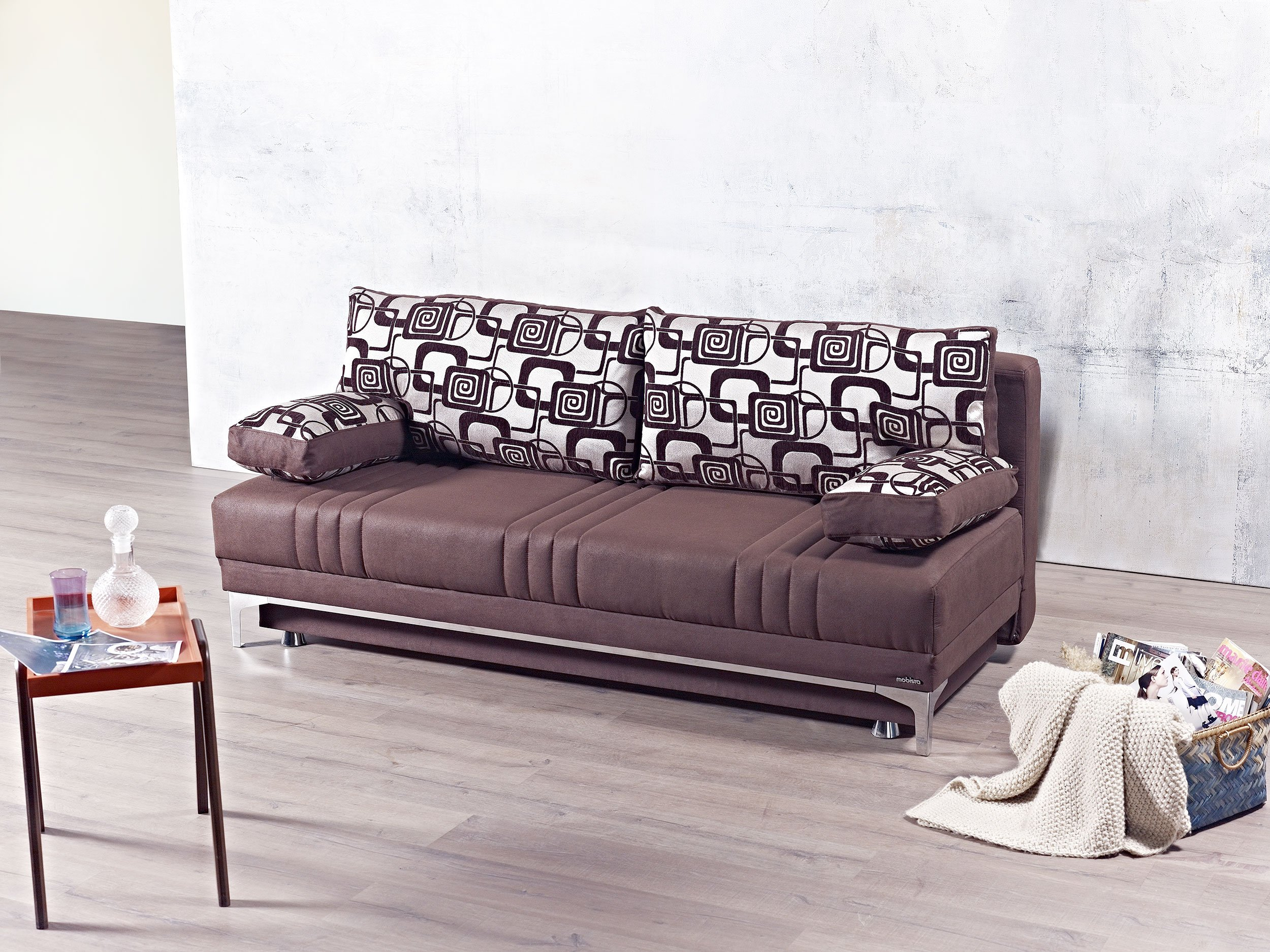 Europa Vintage Chocolate Queen Size Sofa Bed by Mobista