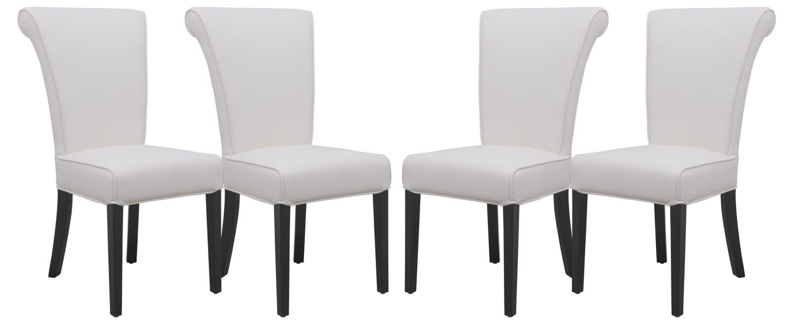 Cool Eden Contemporary Faux Leather White Dining Chair Set Of 4 By Leisuremod Creativecarmelina Interior Chair Design Creativecarmelinacom