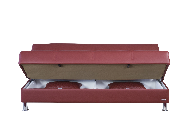 Eco Rest Zen Burgundy Leatherette Sofa by Casamode