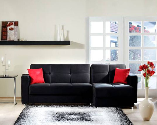 : red black sectional sofa - Sectionals, Sofas & Couches