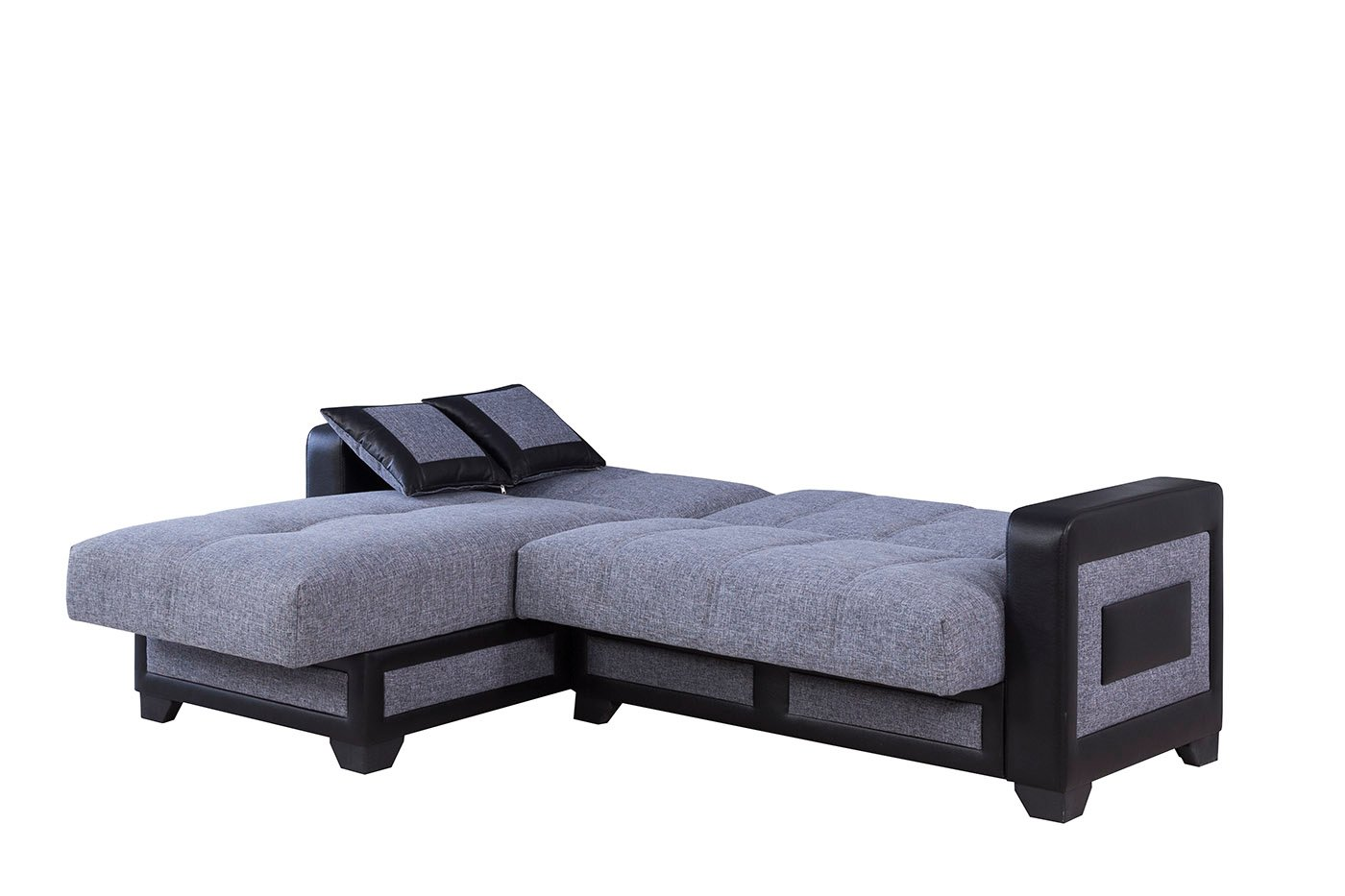 Elite Form Moon Gray Sectional Sofa by Casamode
