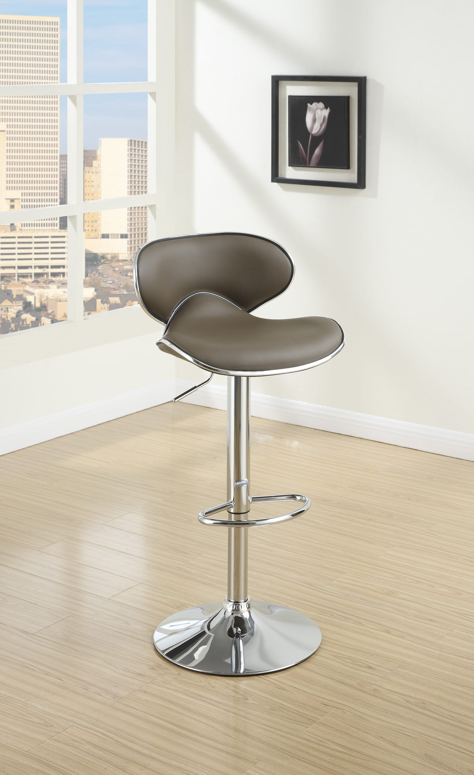 Picture of: F1563 Espresso Barstool Set Of 2 By Poundex