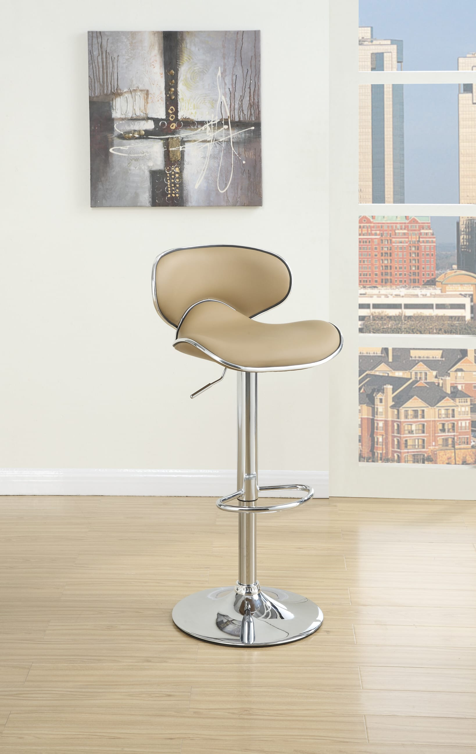 Picture of: F1564 Espresso Barstool Set Of 2 By Poundex