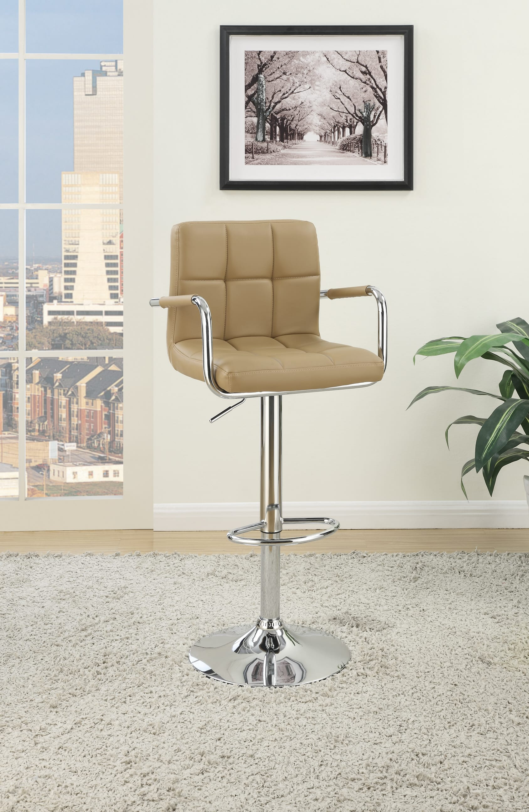Picture of: F1568 Espresso Barstool Set Of 2 By Poundex