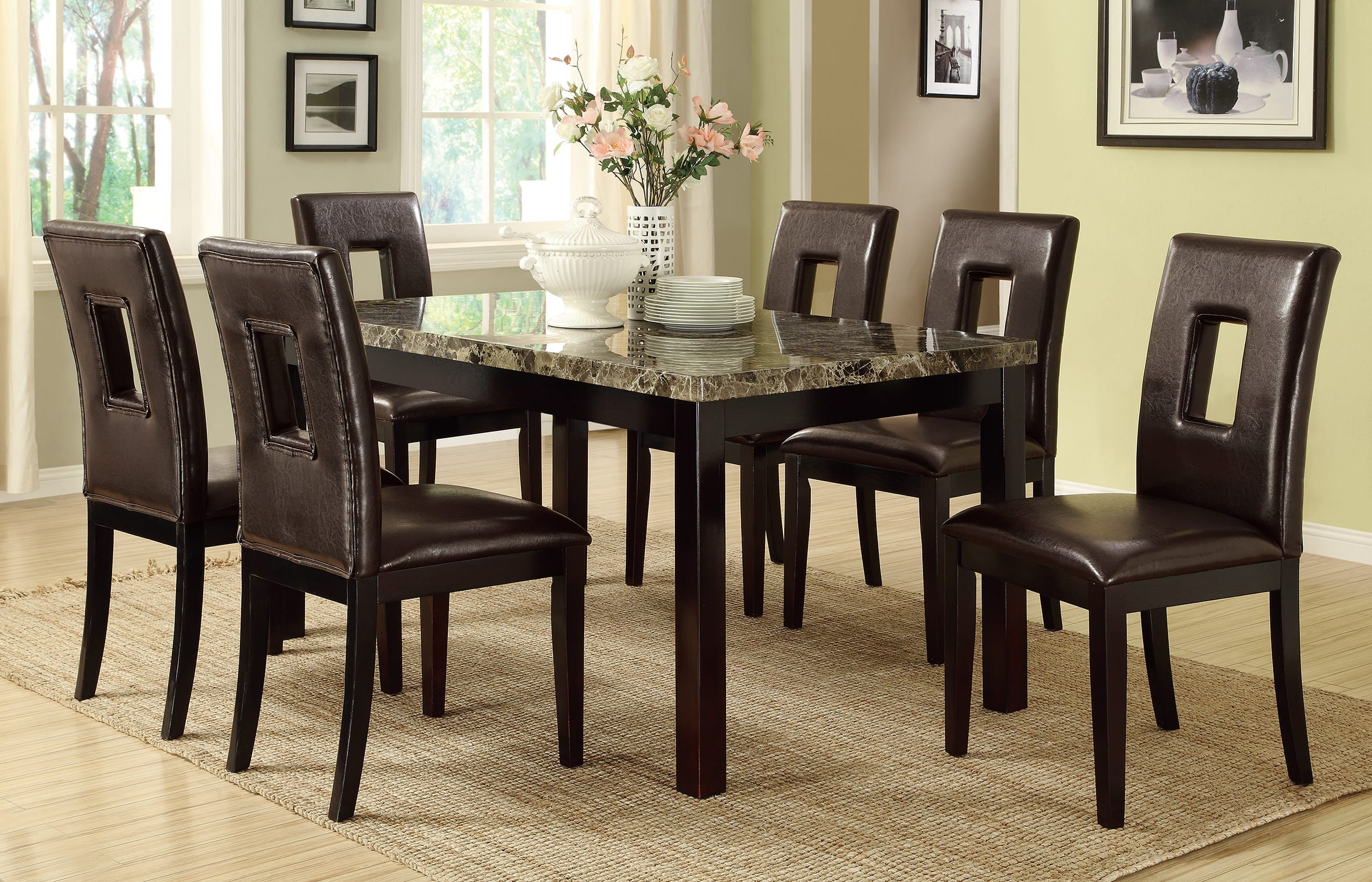 F1051 Dark Espresso Dining Chair (Set of 2) by Poundex