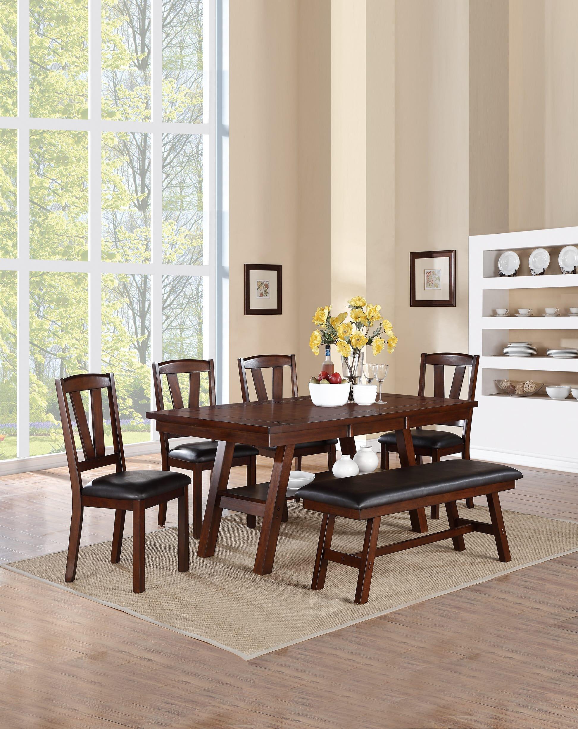 F1331 Dark Walnut Dining Chair (Set of 2) by Poundex