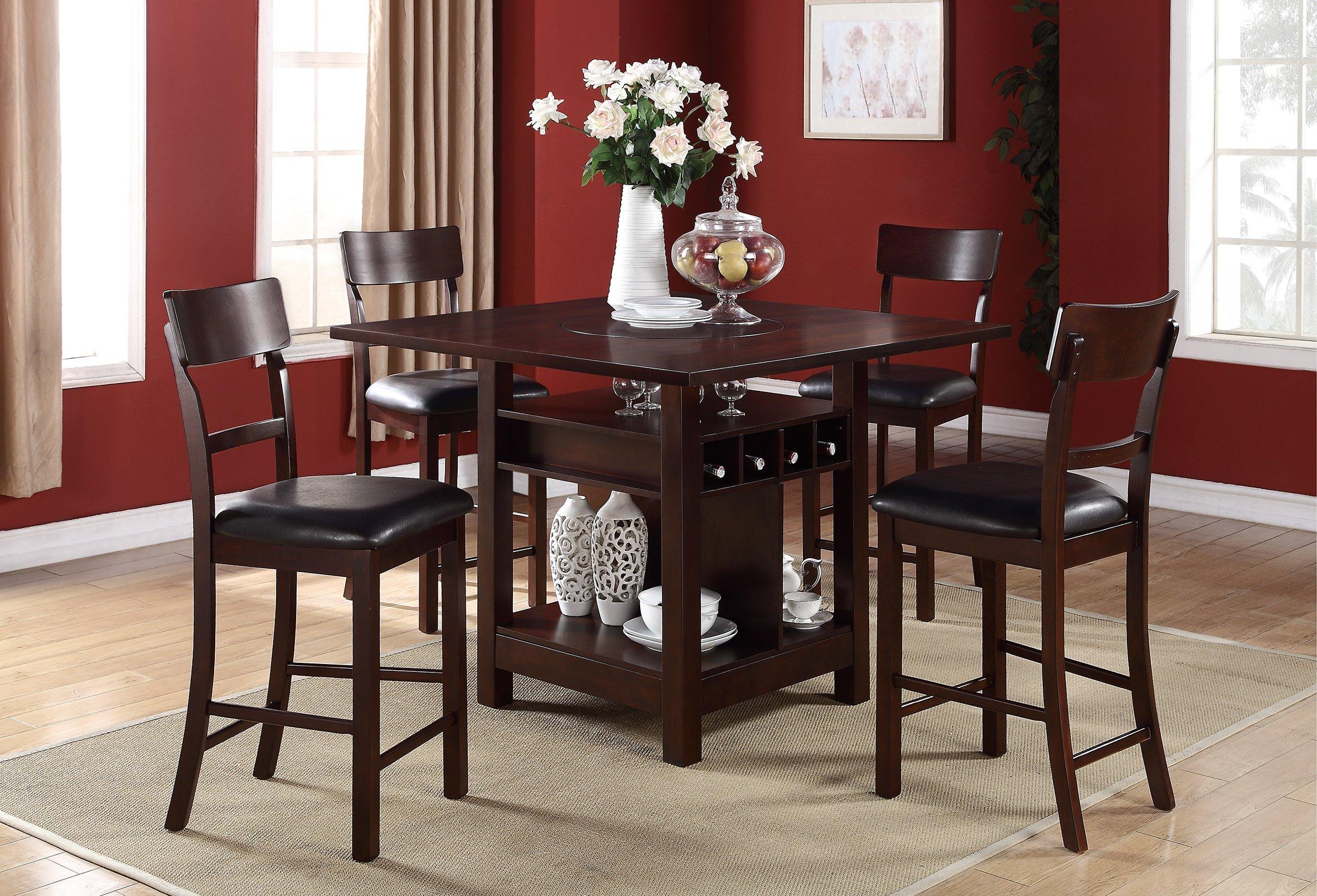 F1207 Dark Chocolate High Chair by Poundex : F2347 from futonland.com size 2362 x 1607 jpeg 943kB