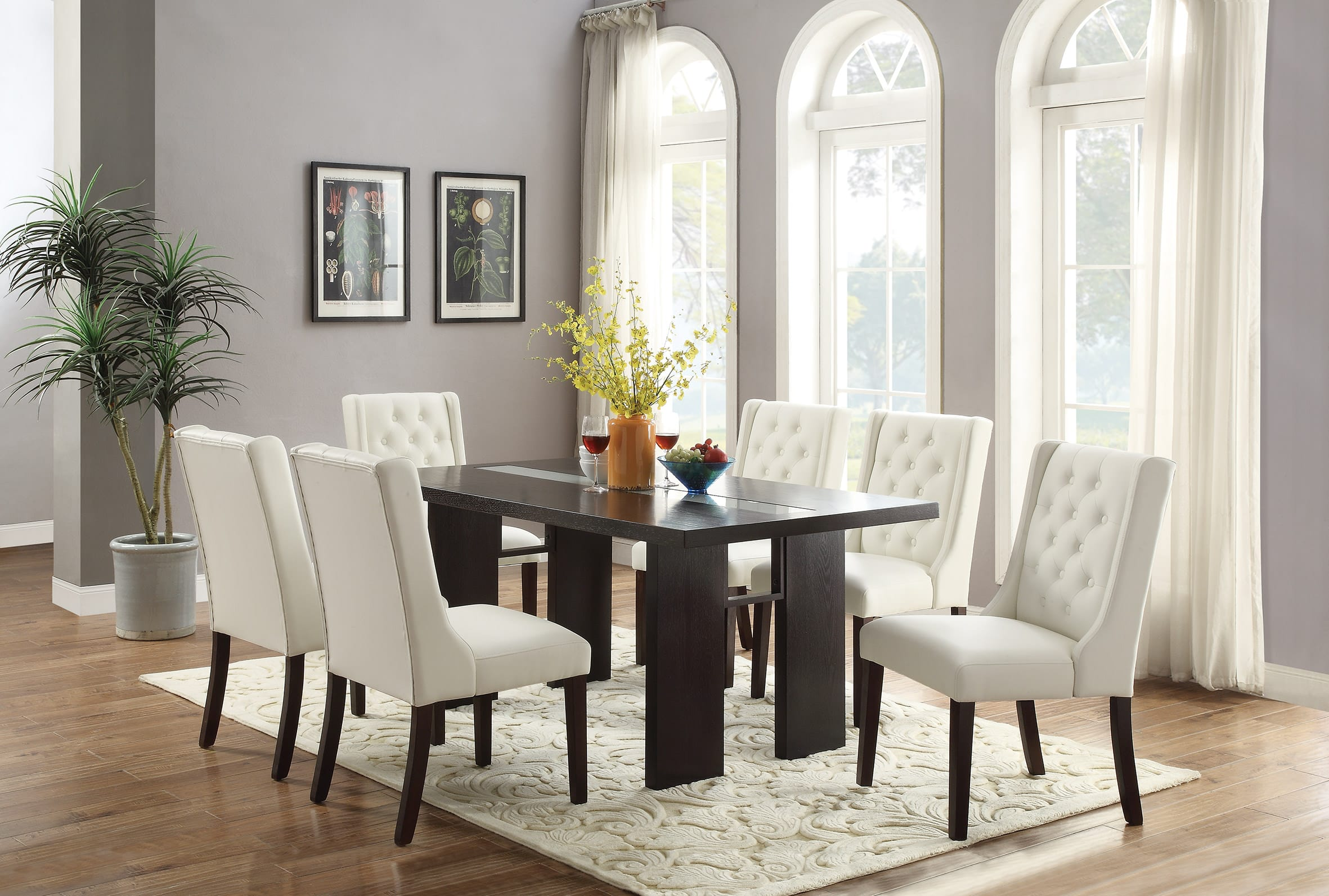 102ae116c0c7 F1503 White Dining Chair (Set of 2) by Poundex