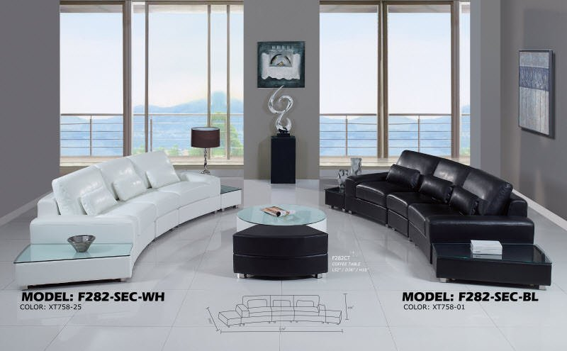 . Sectional F282 Black Ultra Bonded by Global Furniture