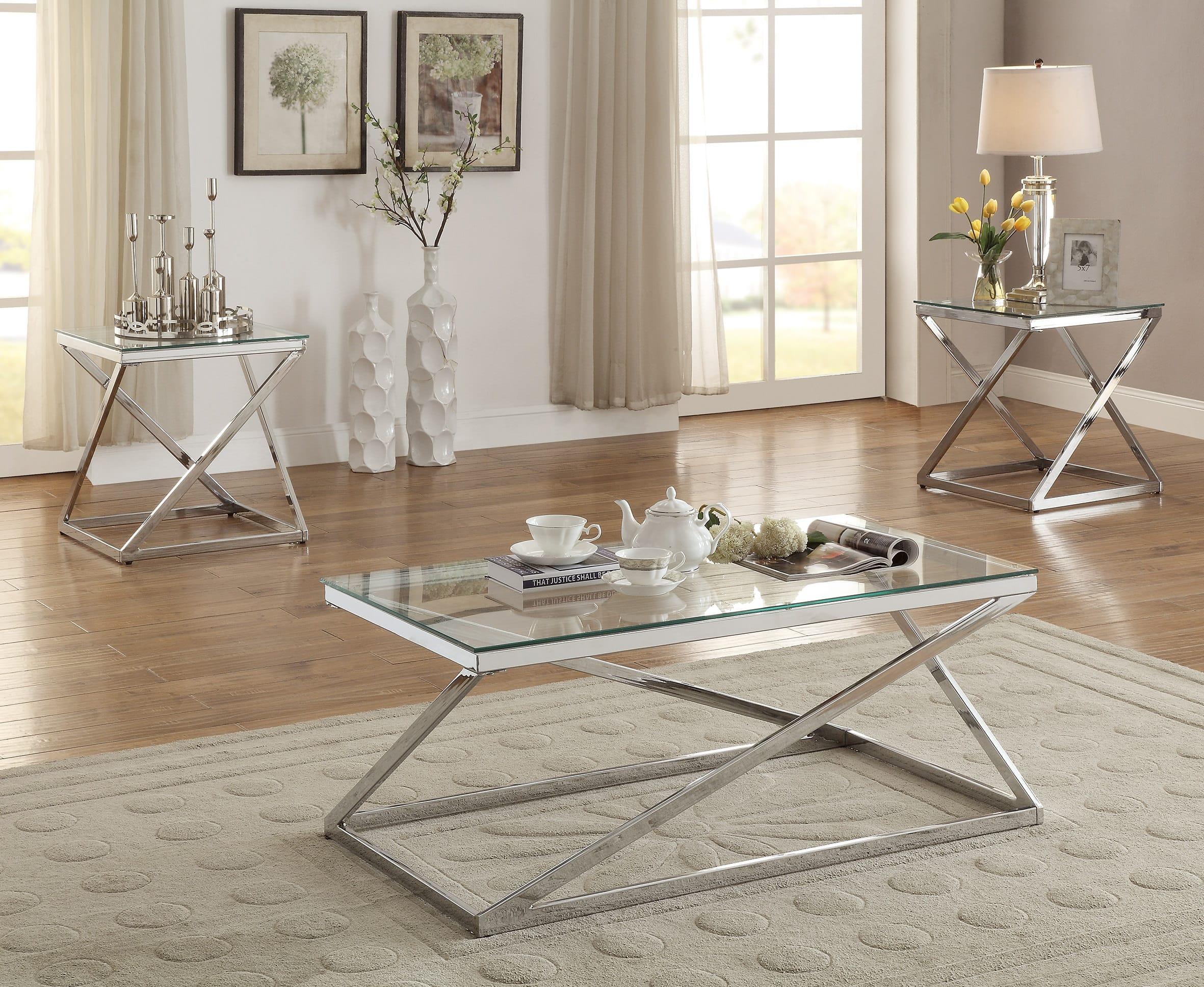 Poundex Coffee Table.F3114 3 Pcs Table Set By Poundex
