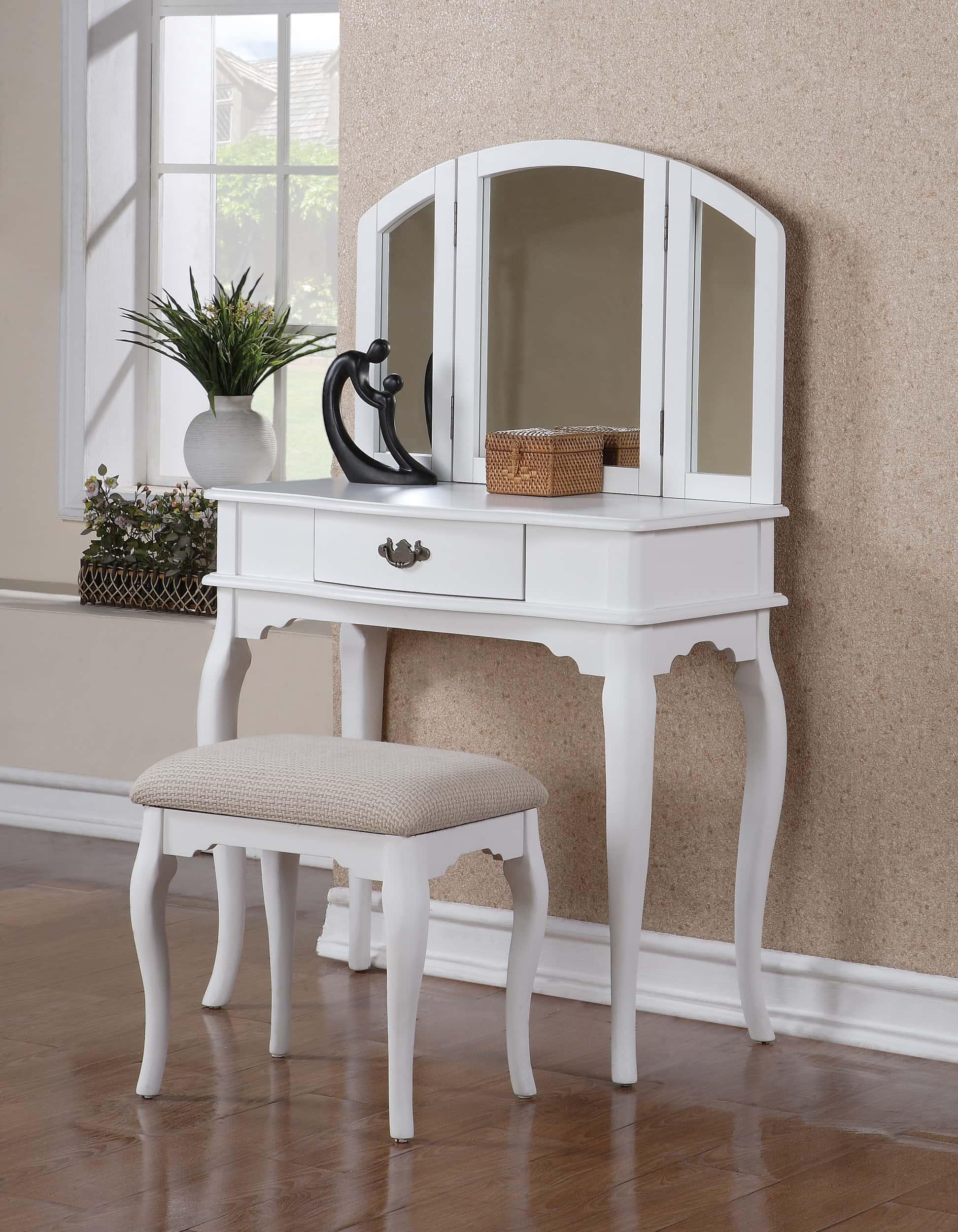 F4069 White Vanity Set By Poundex