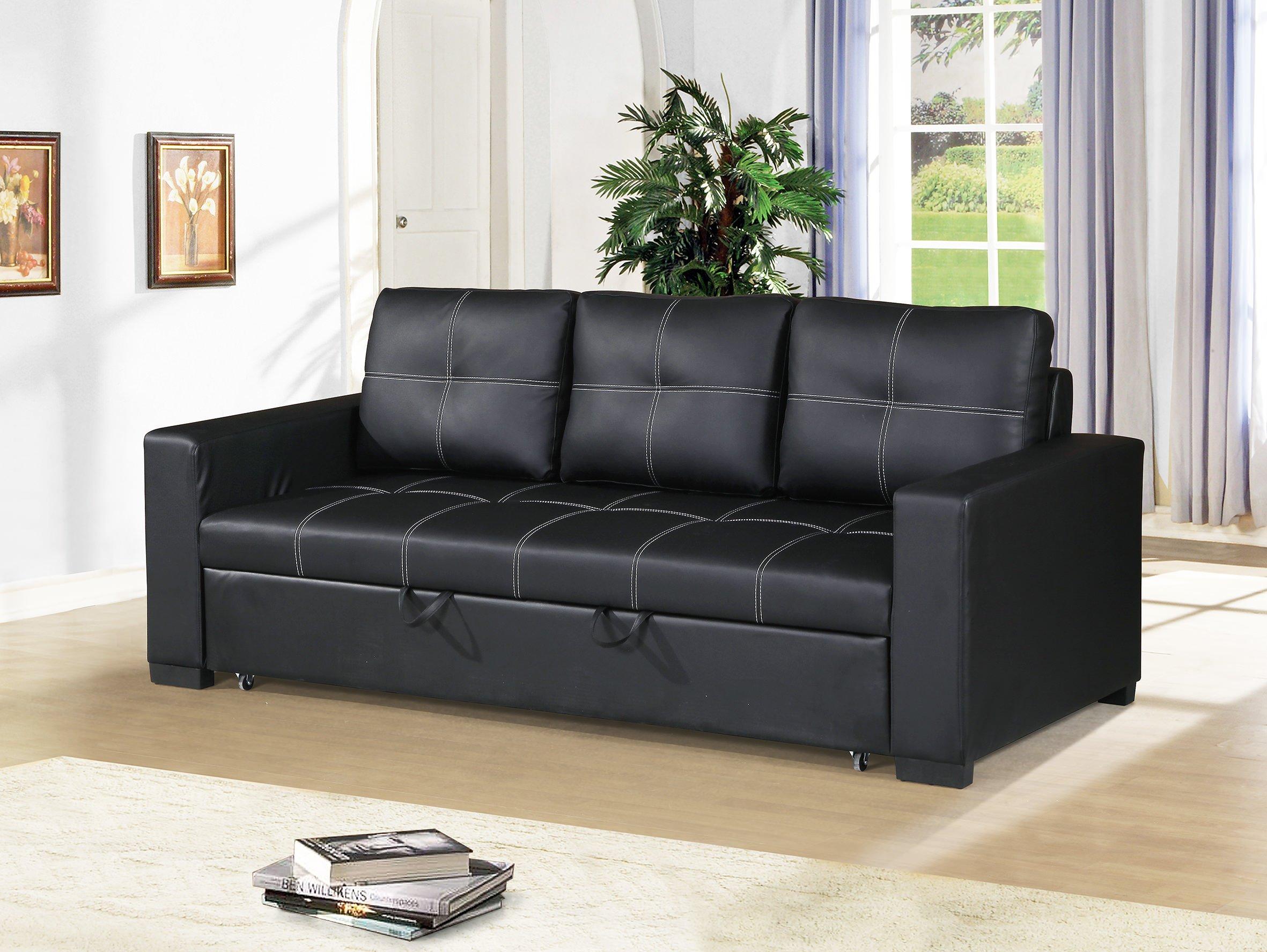 Black Convertible Sofa Serta Morgan Convertible Sofa Black