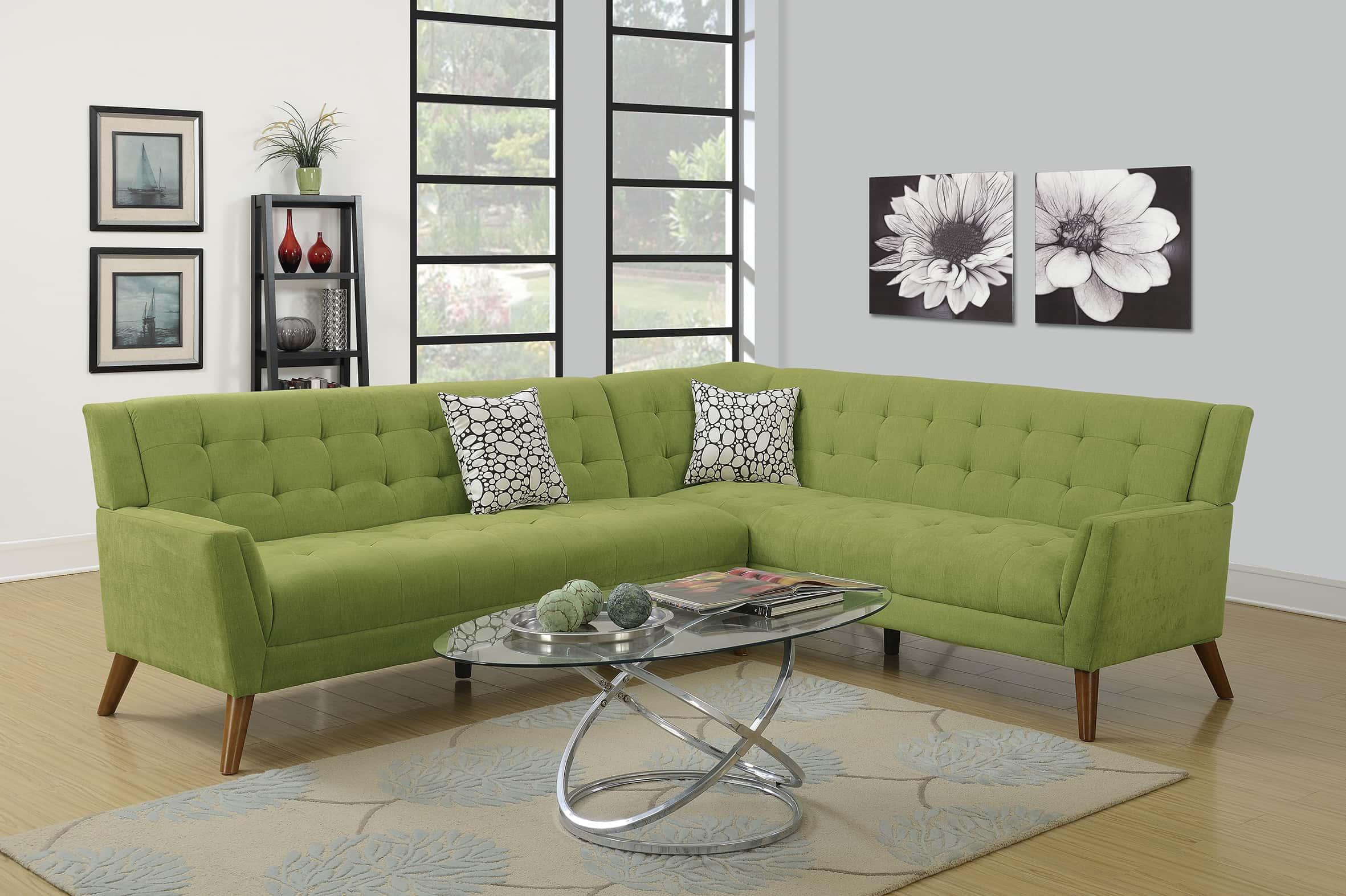 F6886 willow 2 pcs sectional sofa set