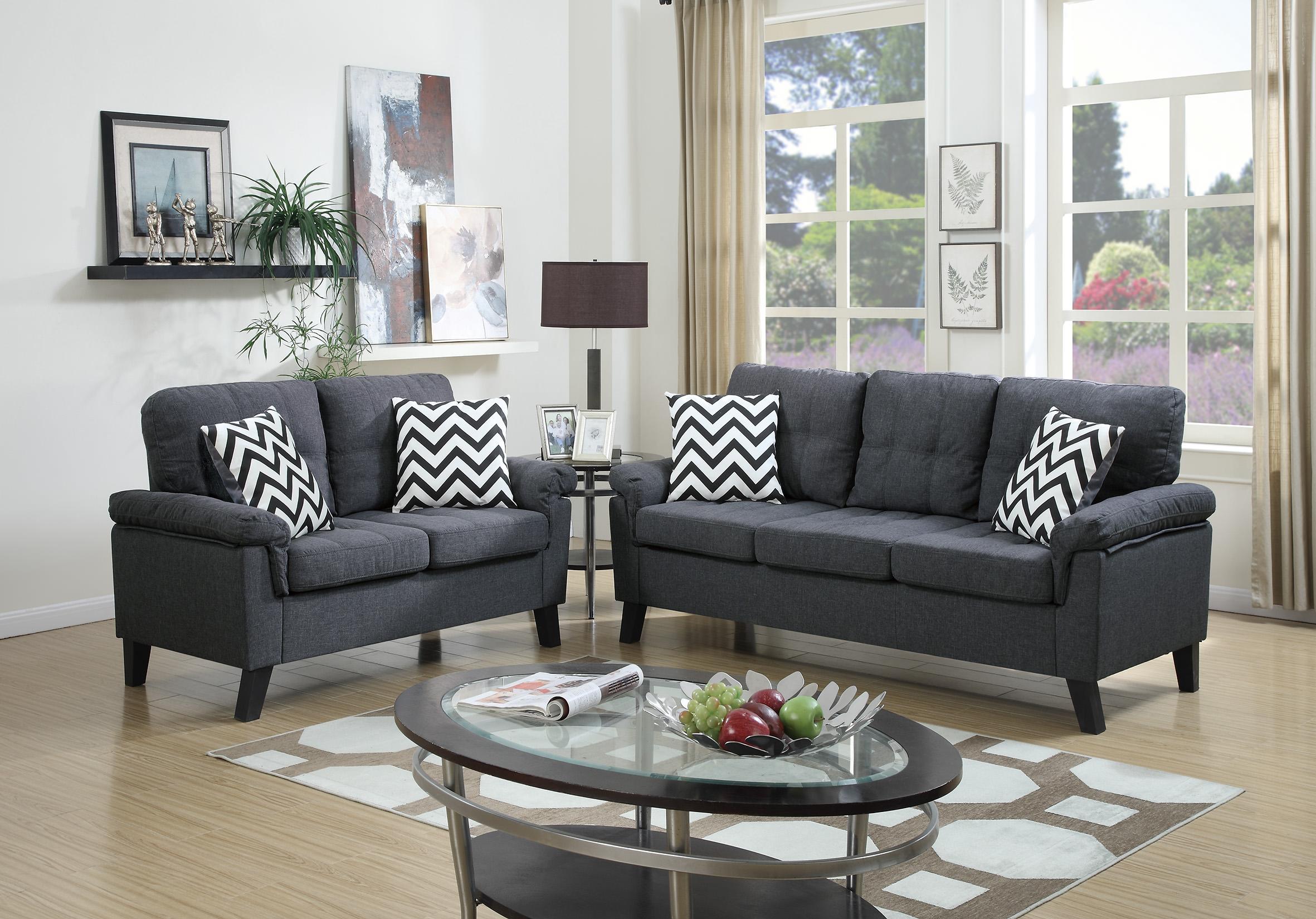 Strange Poundex 2 Pcs Sofa Set Catosfera Net Creativecarmelina Interior Chair Design Creativecarmelinacom