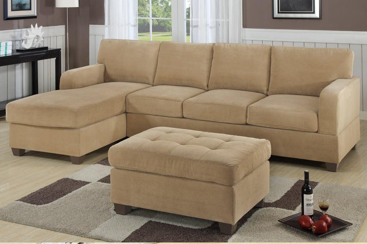 F7130 Khaki Sectional Sofa Set By Poundex