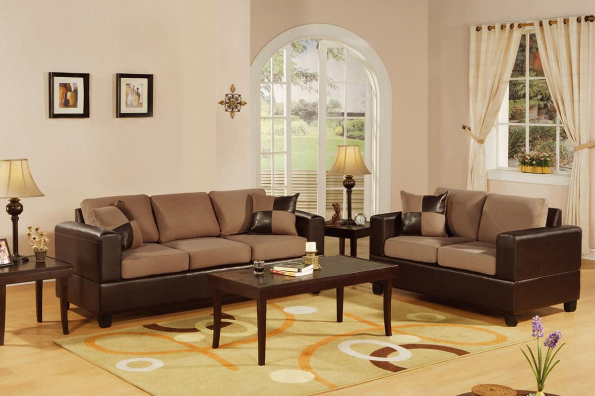 F7592 Saddle 2 Pcs Sofa Set By Poundex