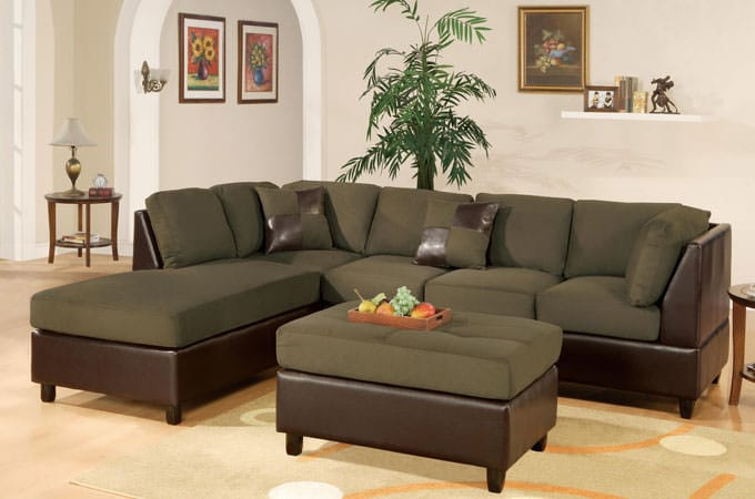 F7620 Sage Reversible Sectional Sofa By Poundex