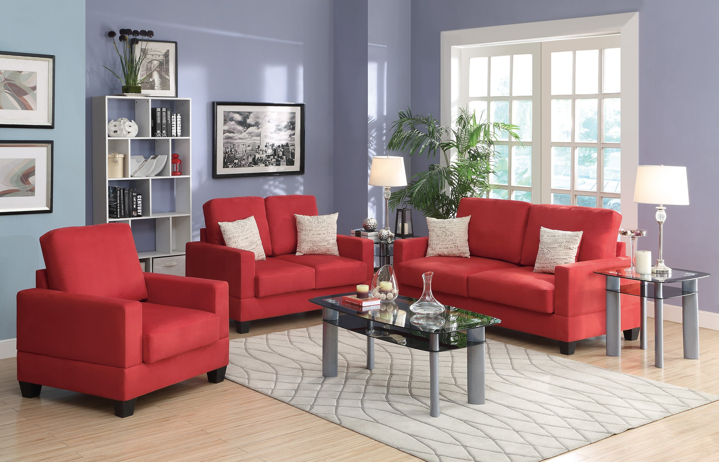 F7913 Coral 3 Pcs Sofa Set by Poundex