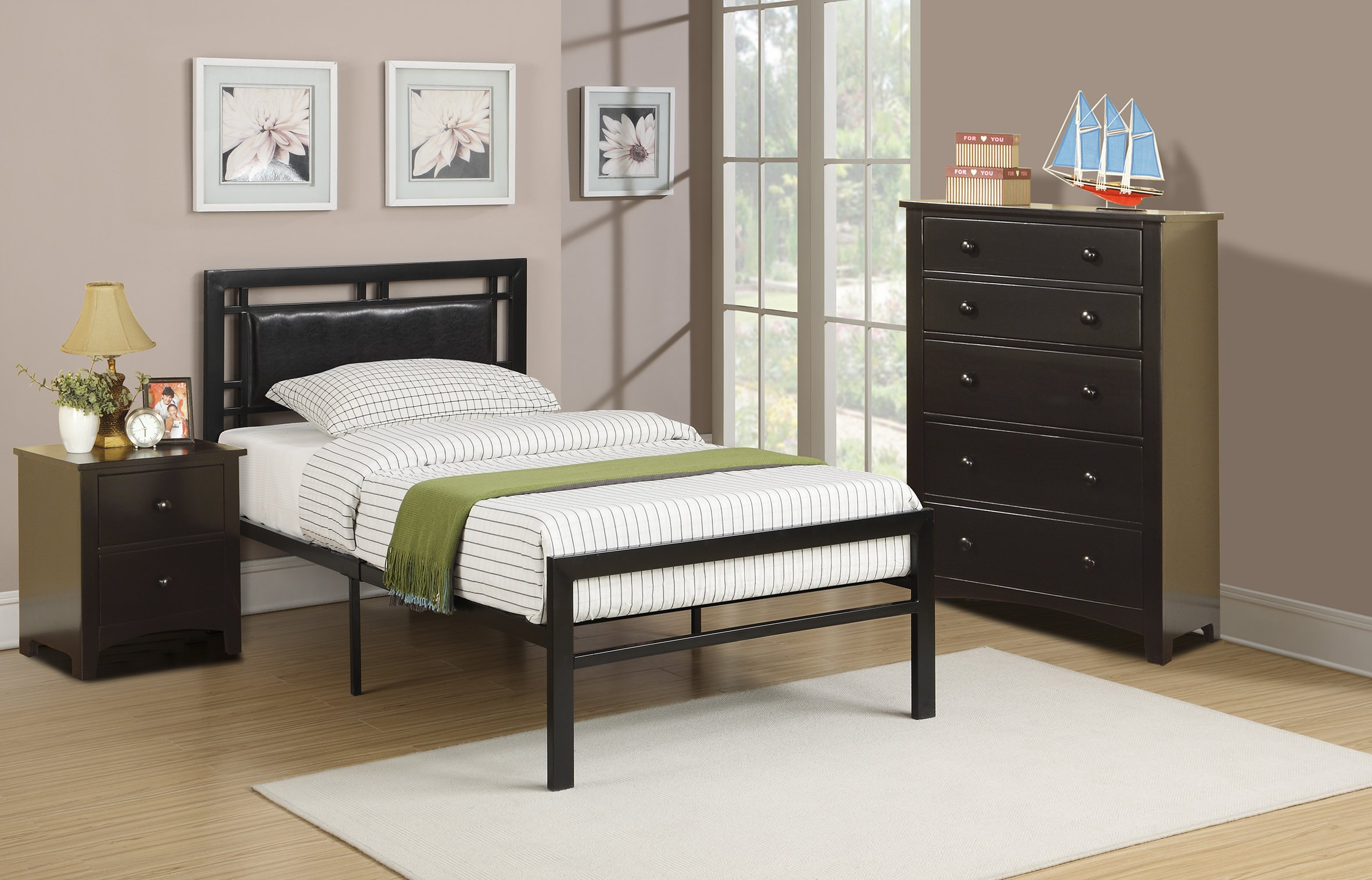 F9413 Black Bed By Poundex