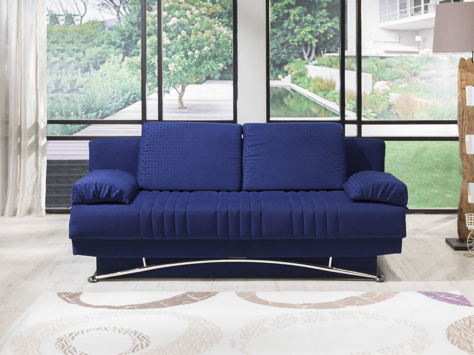 Marvelous Fantasy Tetris Blue Convertible Sofa Bed By Istikbal Furniture Theyellowbook Wood Chair Design Ideas Theyellowbookinfo