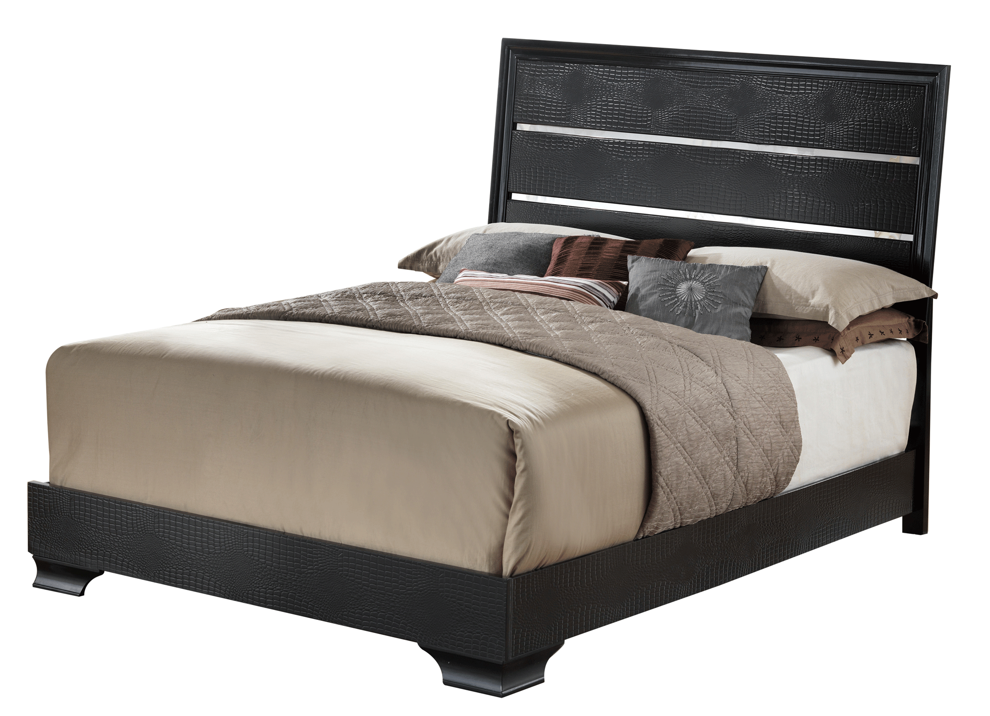 Felix Black Bedroom Set by Global Furniture