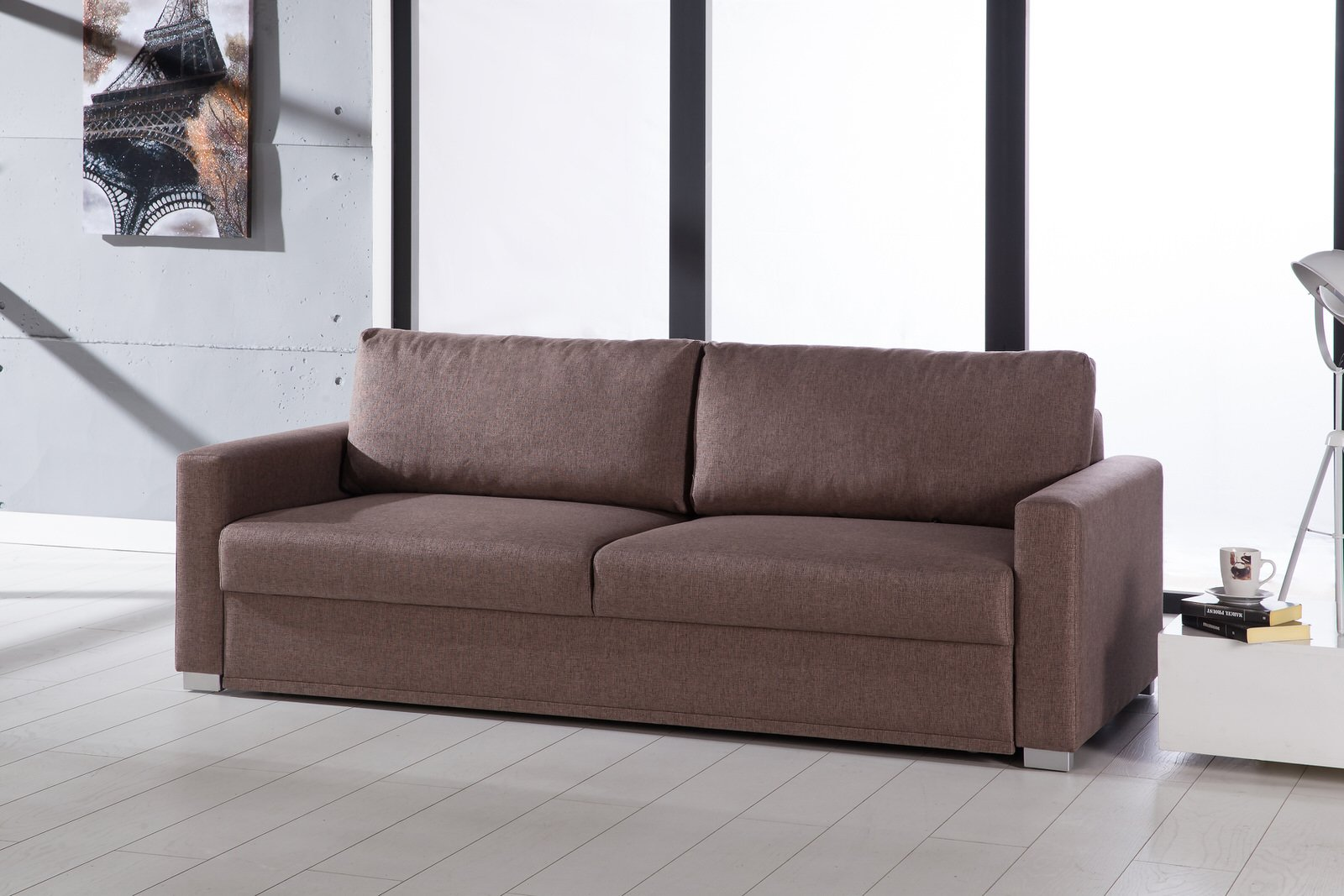 Felix Diego Light Brown Convertible Sofa Bed by Sunset