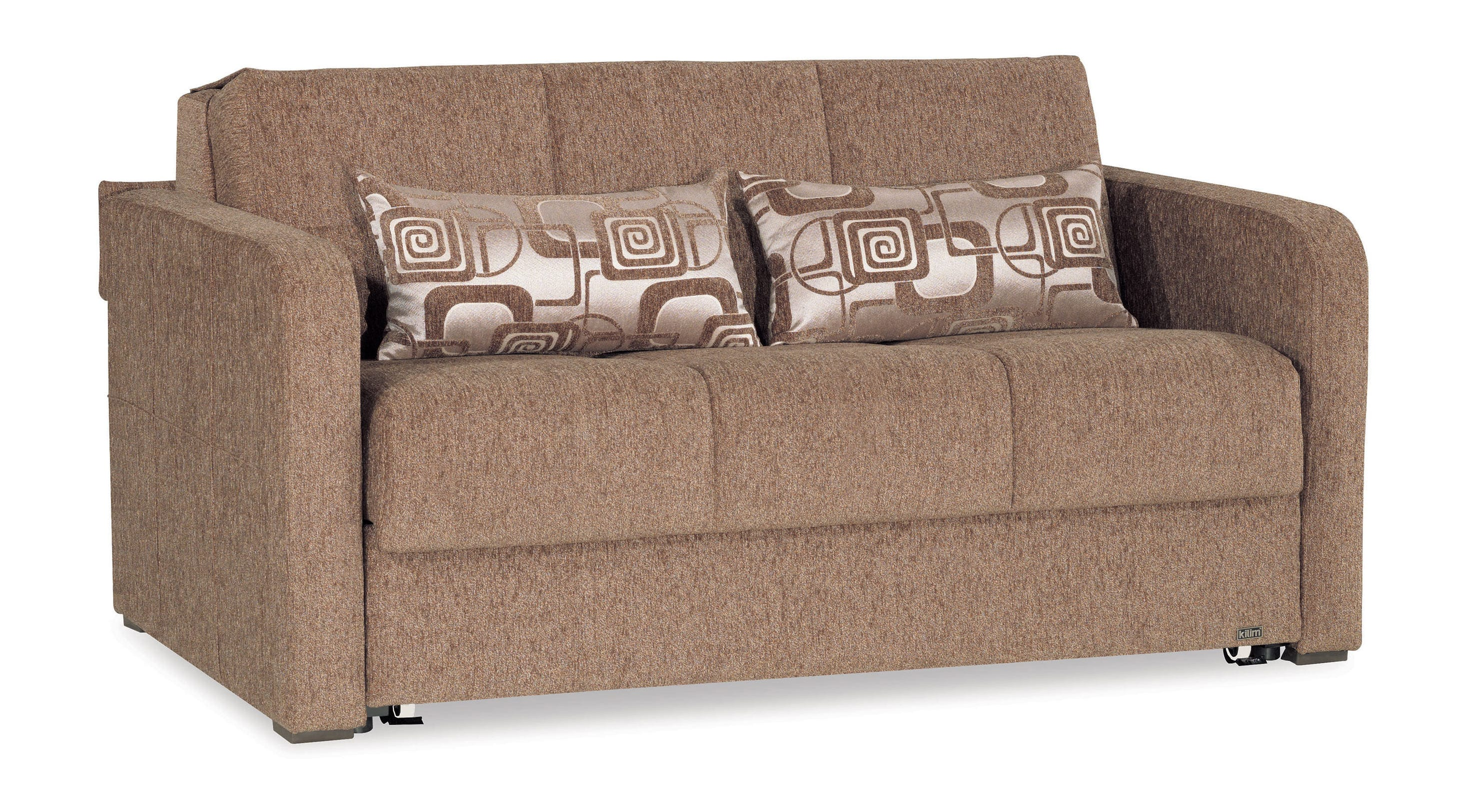 Ferra Fashion Brown Convertible Loveseat by Casamode