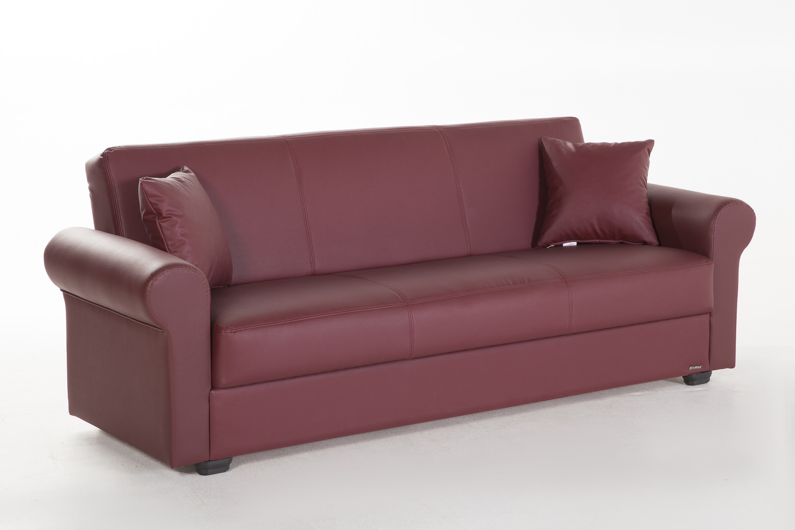 Floris santa glory burgundy convertible sofa bed by sunset for Divan convertible