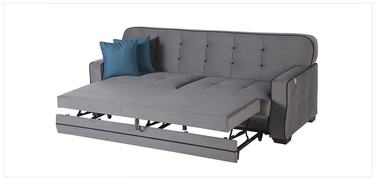 Fluo Koala Gray Convertible Sofa Bed By Sunset