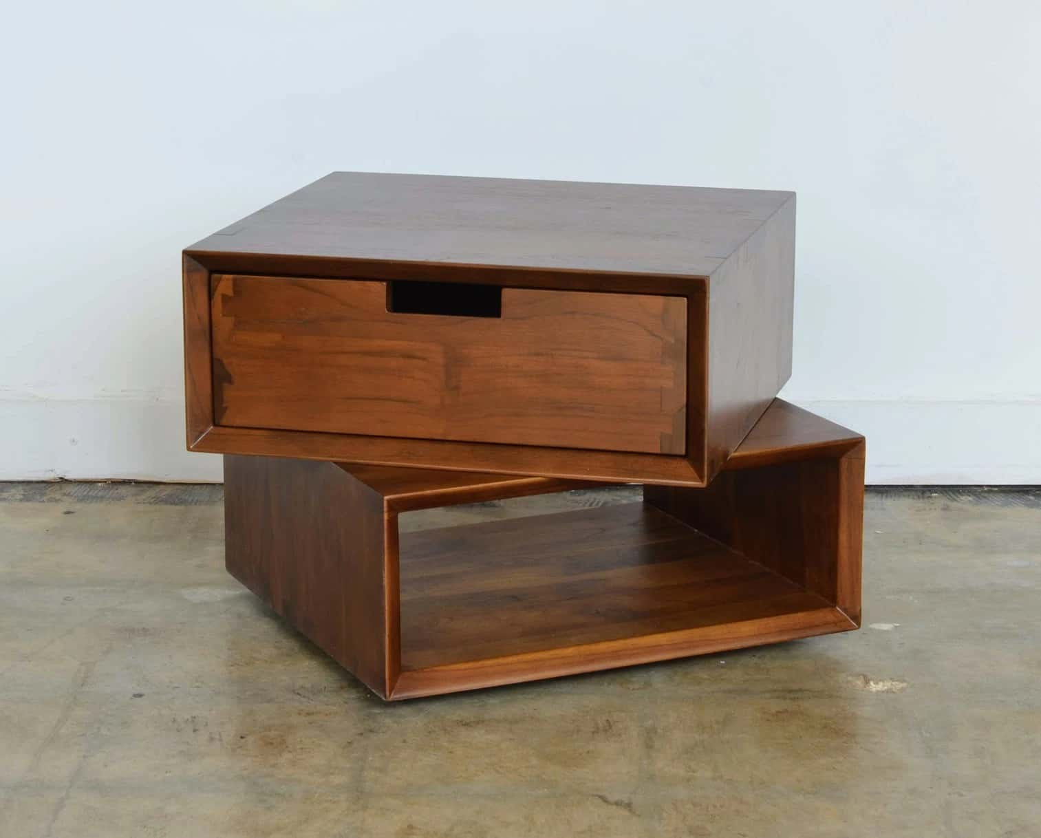 Ciao Box 1 Drawer - Teak Wood/Tinted Finish by From the Source