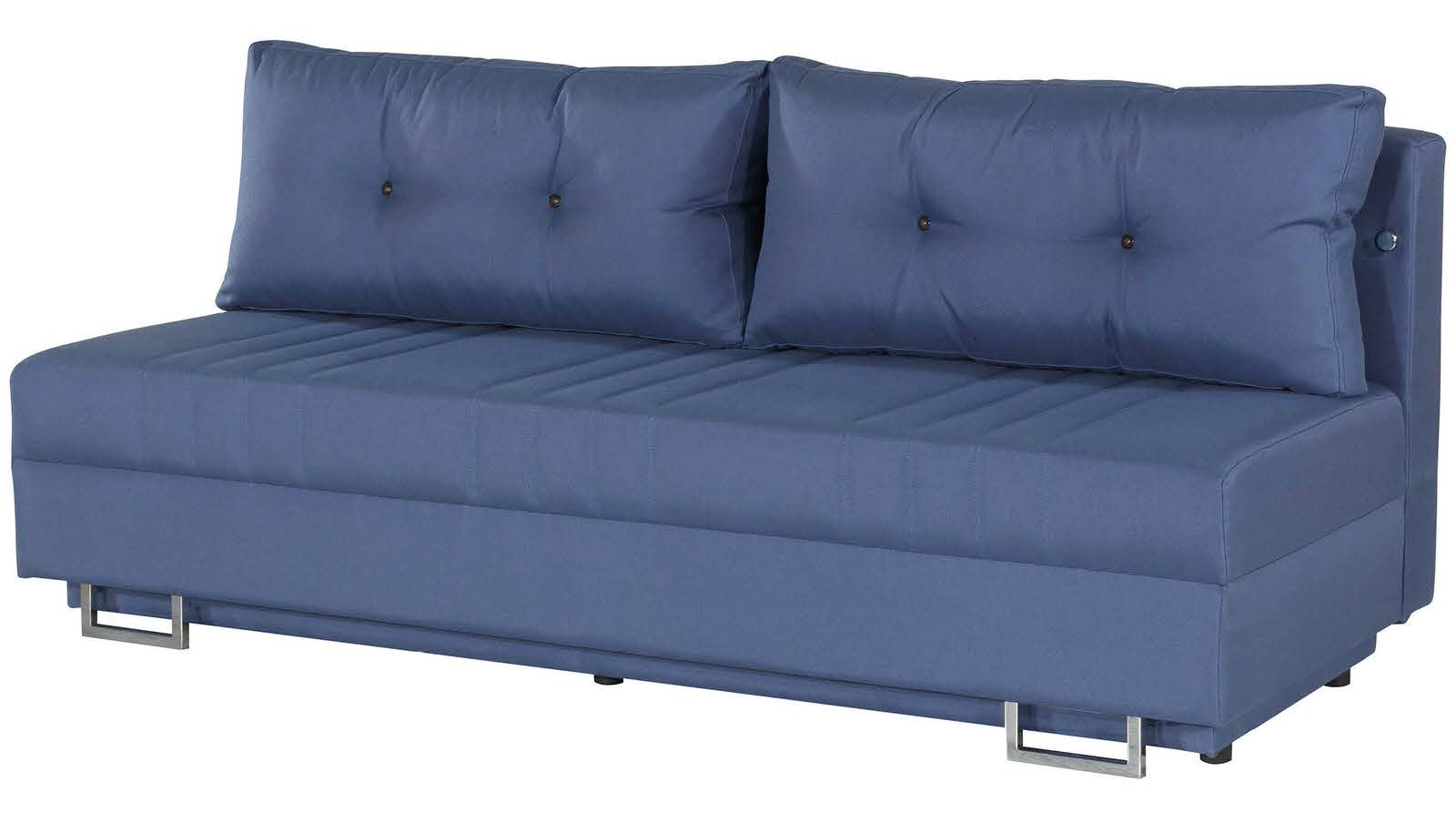 Flex motion blue queen sofa bed w storage by casamode for Sofa queen bed