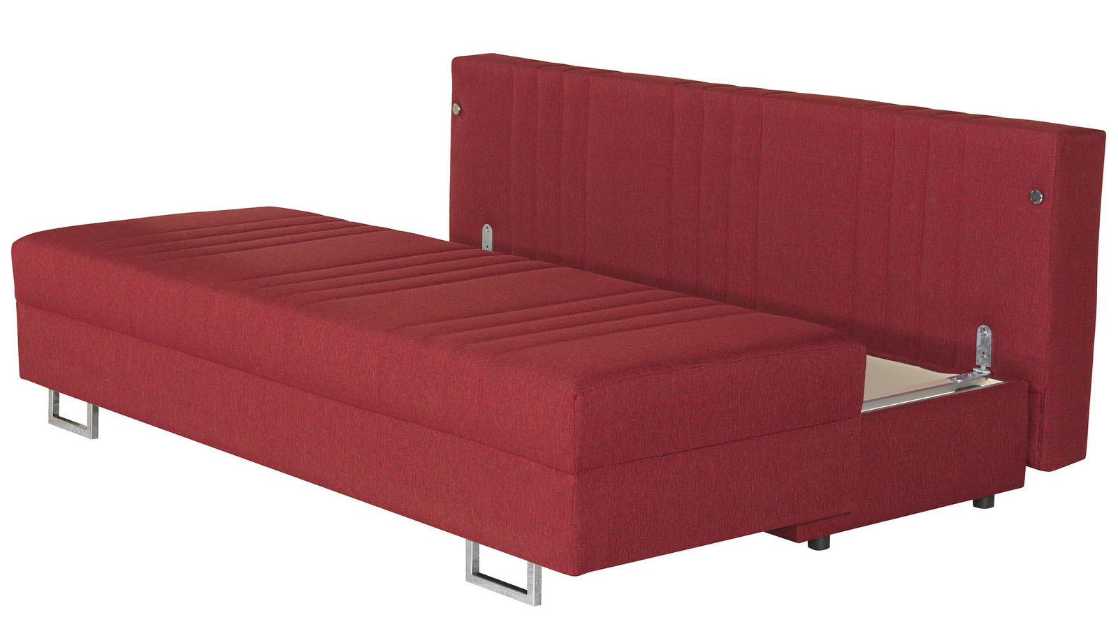 Flex motion red queen sofa bed w storage by casamode for Sofa queen bed