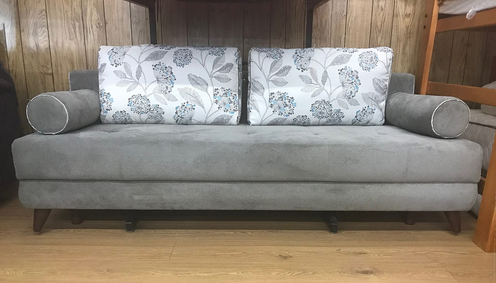 Floor Sample Stella Image Gray Queen Sofa Bed With Storage By Istikbal Furniture