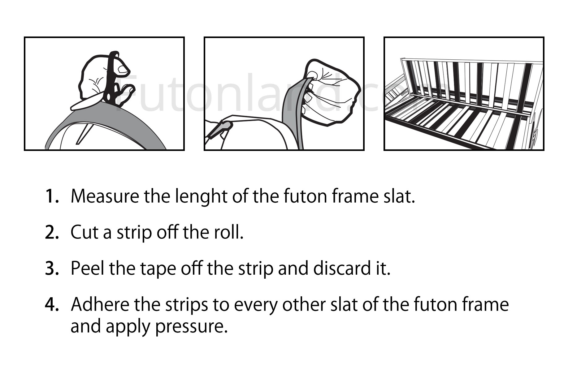 Futon No Slip Strips By Futonland