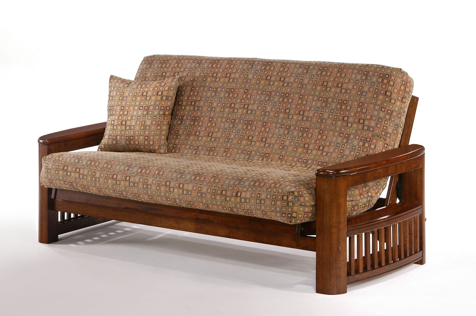 Moonshadow premium futon frame by night day furniture for Large wicker moon chair