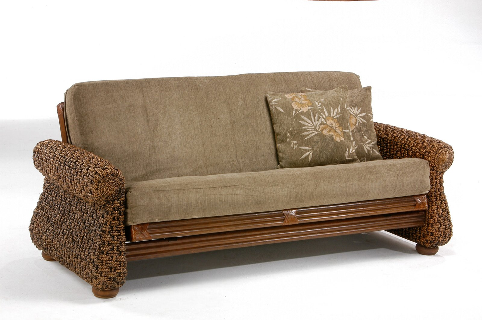 Wicker futon for Wicker futon sofa bed