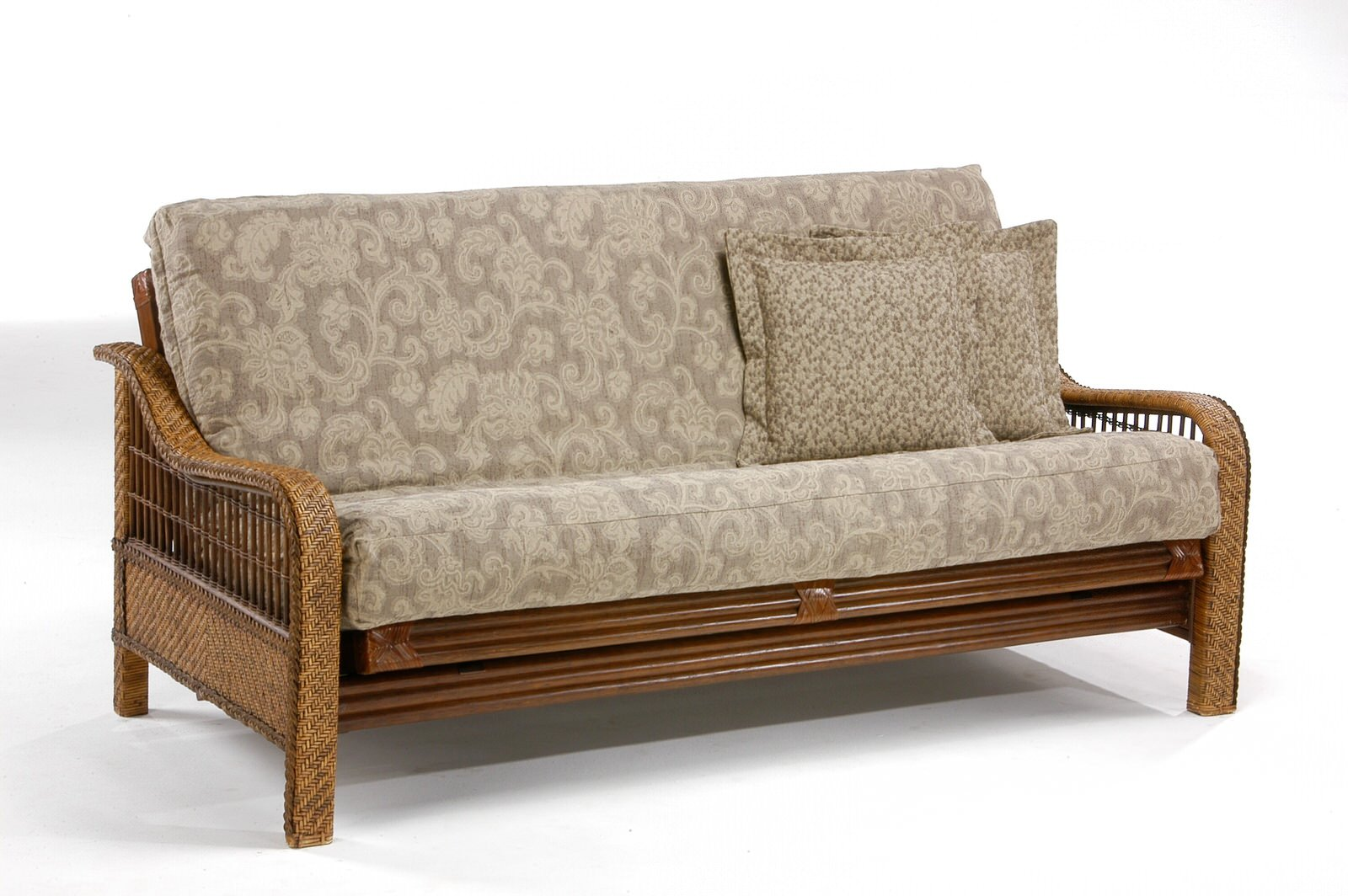 Wicker futon roselawnlutheran for Wicker futon sofa bed