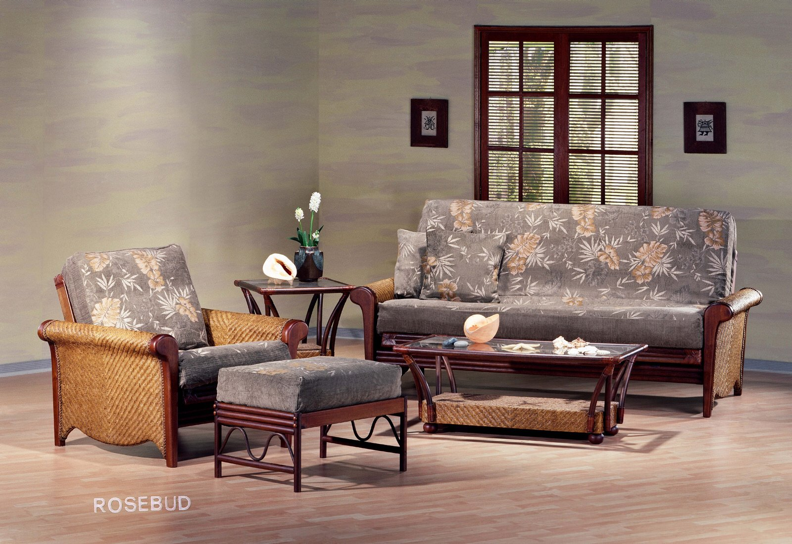 Rosebud Rattan Futon Frame By Night Day Furniture