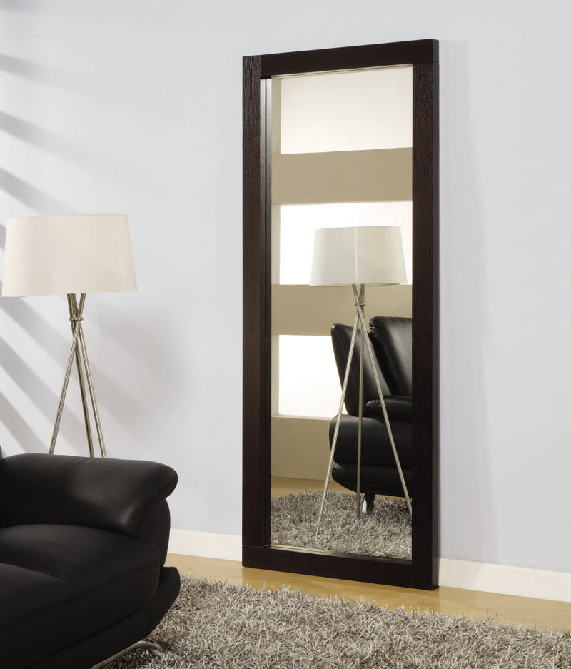 G020 wenge mirror by global furniture for Miroir wenge