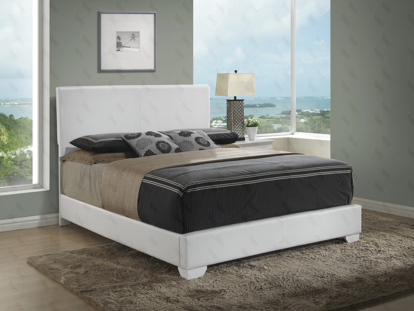 . Queen Upholstered Bed with Mattress Set   Free Delivery in NYC